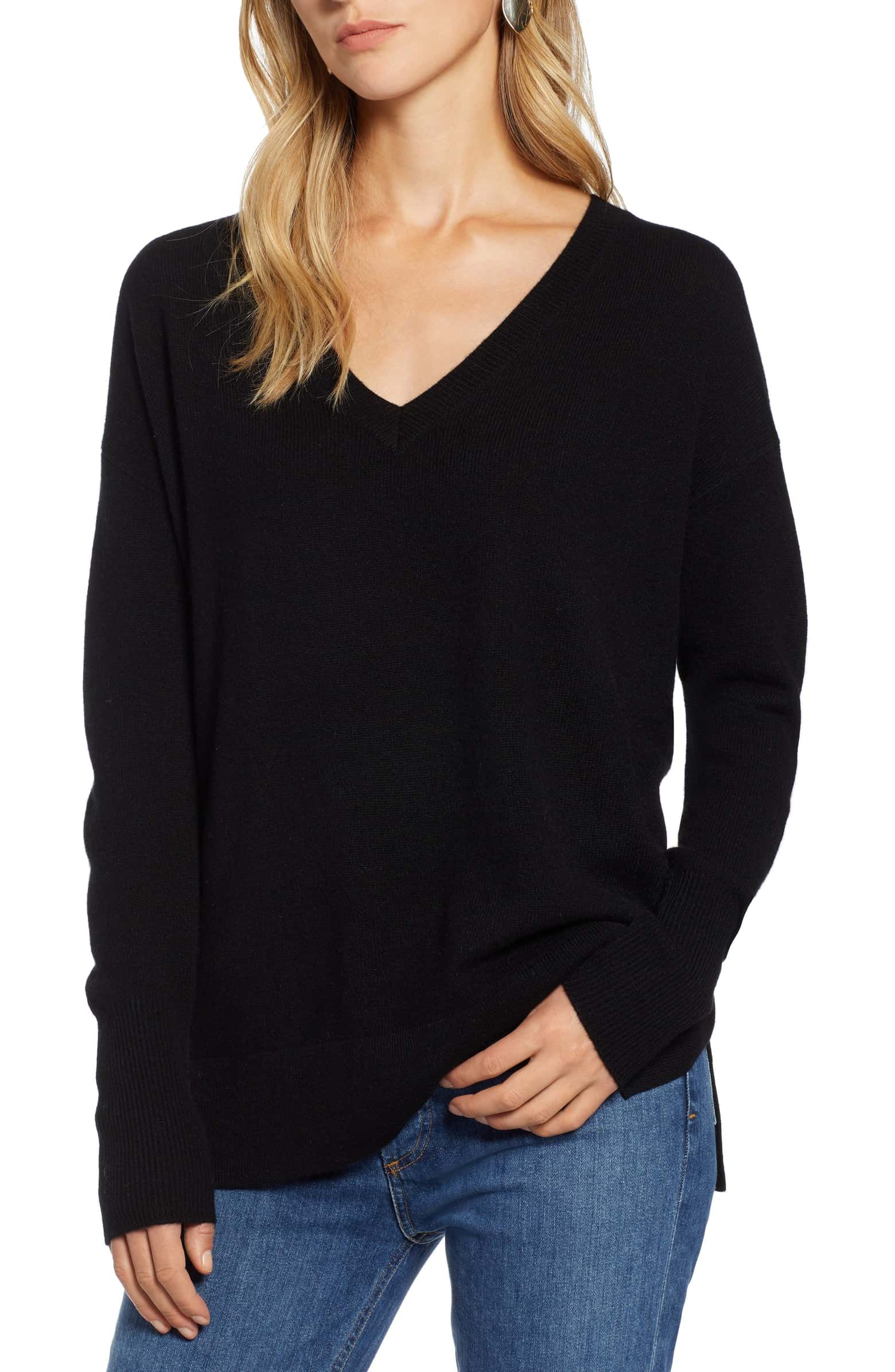 0d102619b4d42 Relaxed V-Neck Cashmere Sweater