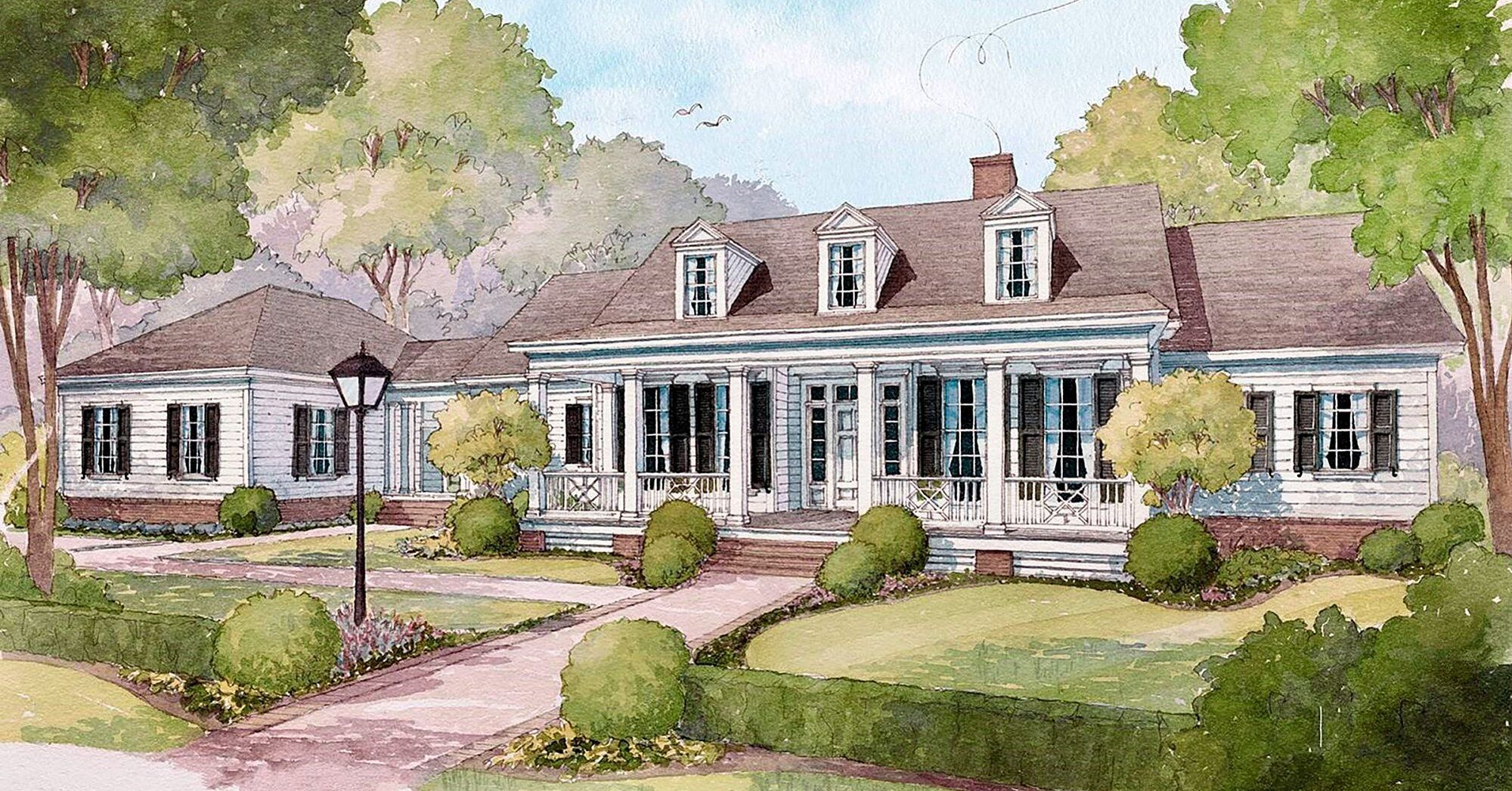 We Love A Classic House Plan 2049 Is Perfect For Every Stage Of Life In 2020 Southern Living House Plans One Level House Plans Southern House Plans