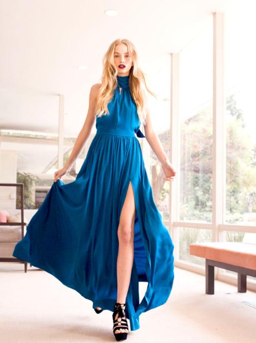 gorgeous blue dress