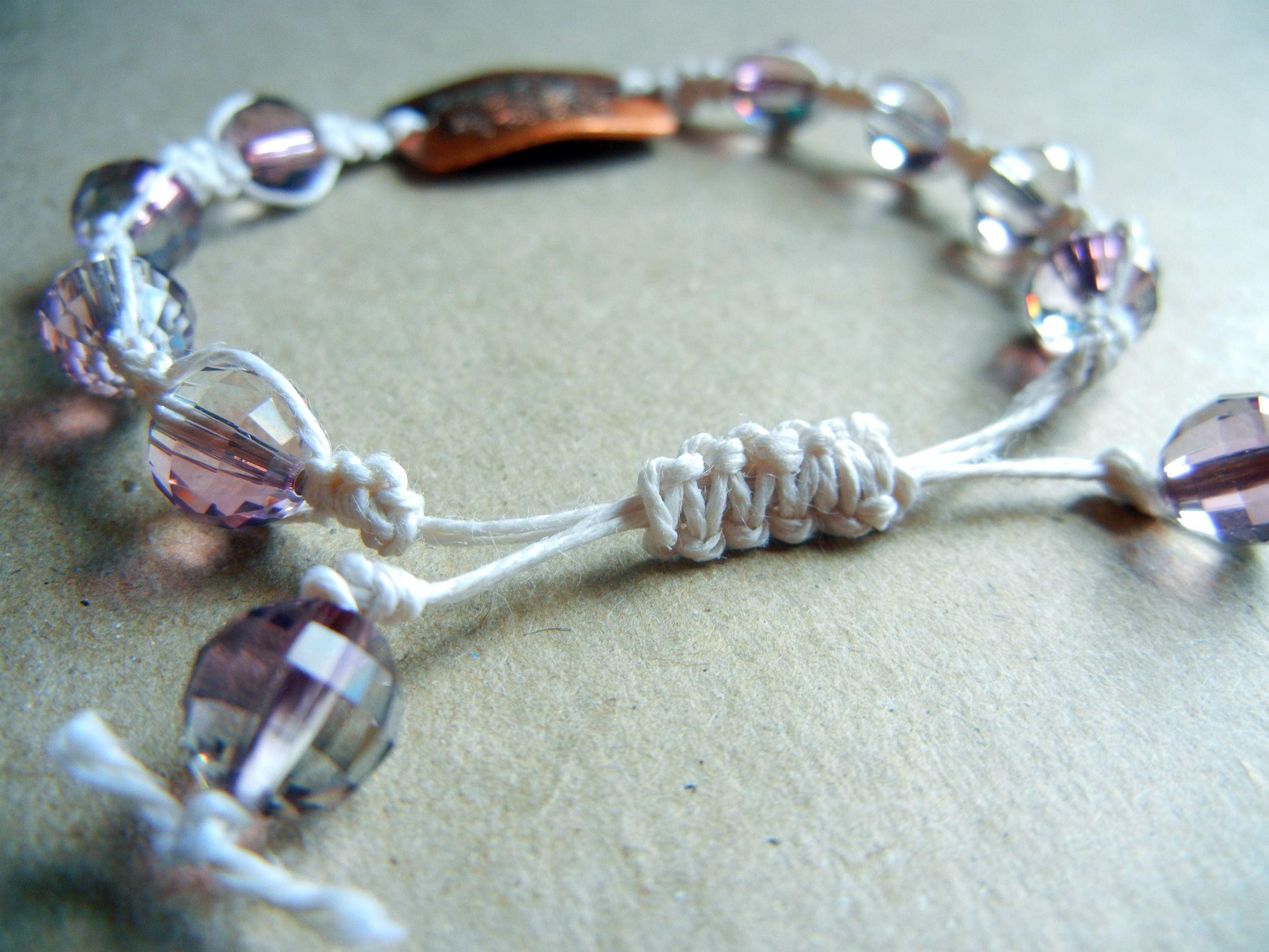 Diy Shamballa Style Macrame Bracelet Tutorial With Sliding Knot Closure