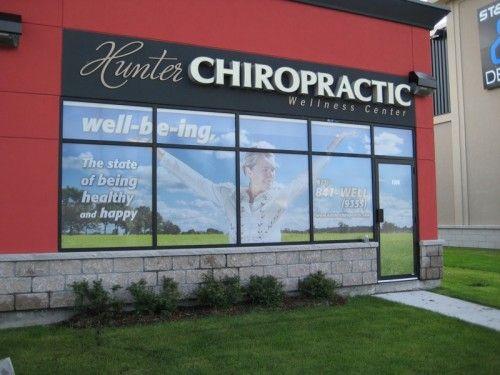 Ottawa Window Graphics Hunter Chiropractic K6 Media