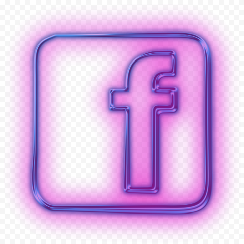 Pink Neon Facebook Icon Light Citypng Facebook Icons Neon Pink Neon