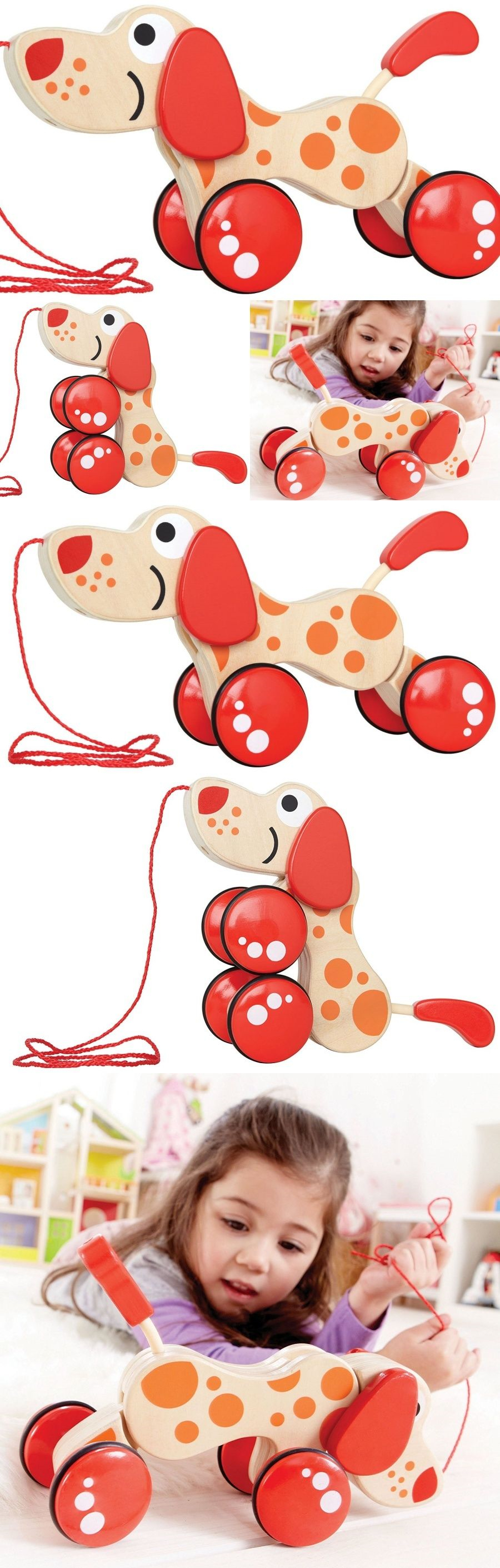 Pull Toys 728 Push Pull Toys Wooden Puppy Craftsmanship Non Toxic