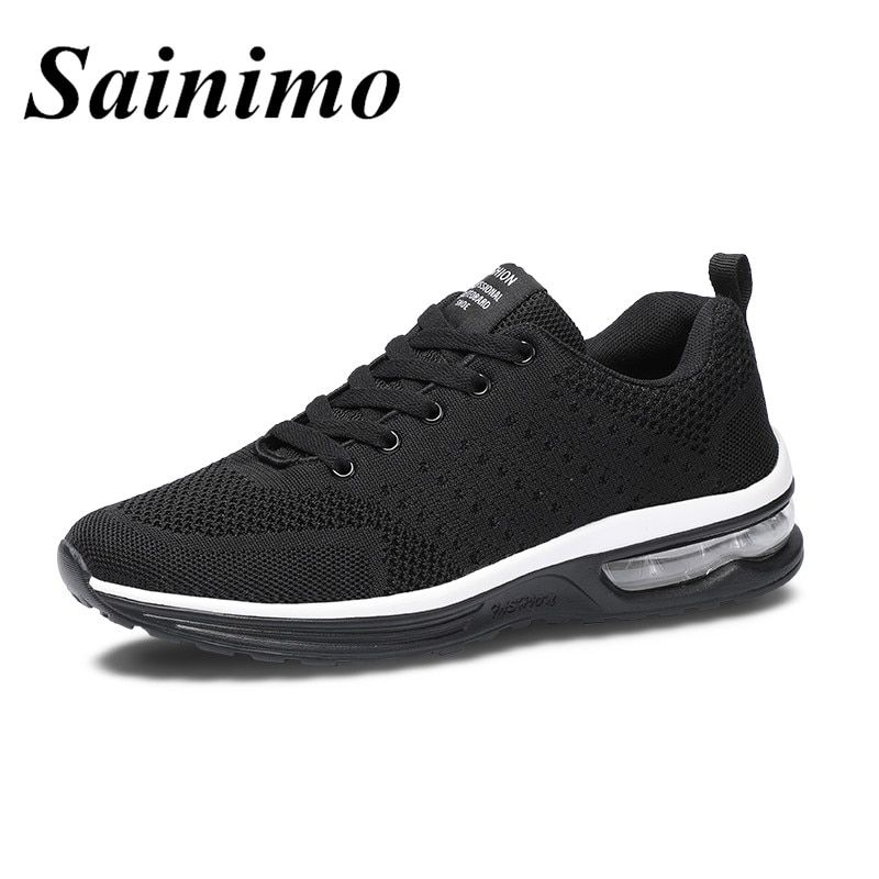 bd2e7fd1b10 Air Mesh Breathable Sneakers Men Summer Athletic Outdoor Sports  Entertainment Shoes Male Running Shoes air cushion