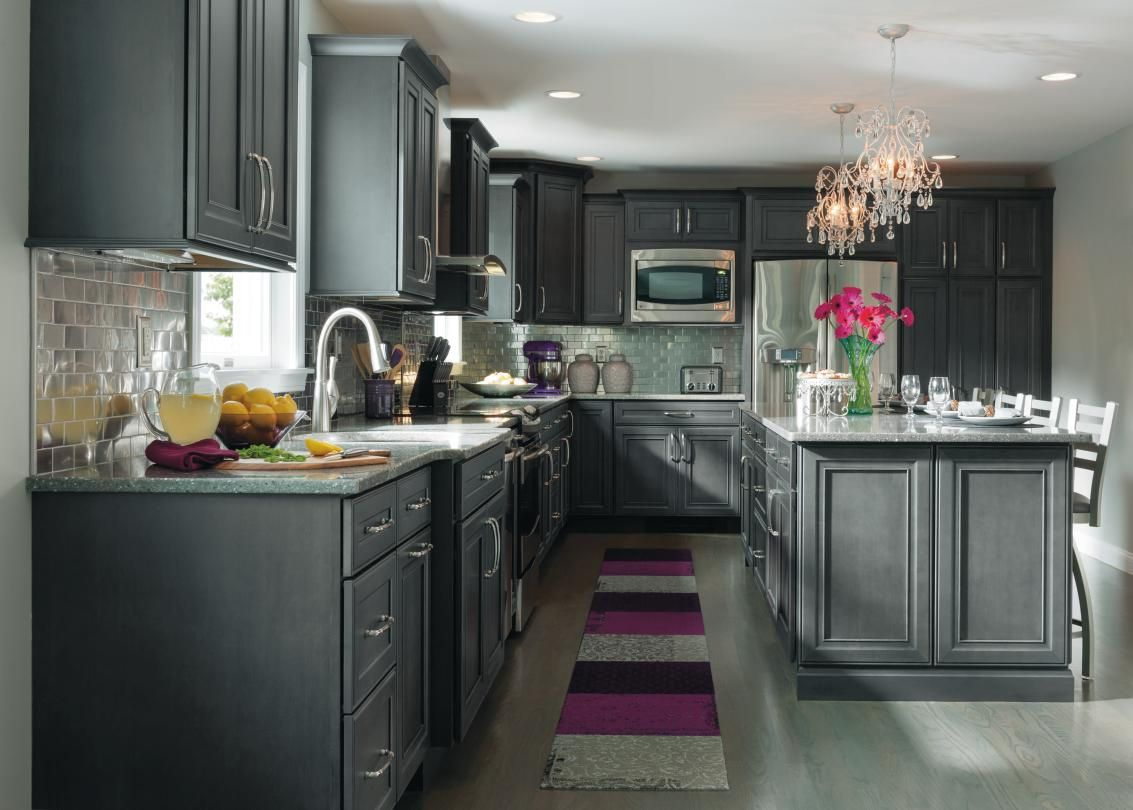 Grey cabinets can bring a modern feel to a kitchen, just ...