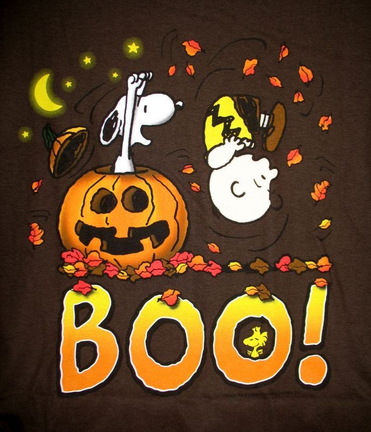 snoopy and charlie brown boo halloween peanuts - Charlie Brown Halloween Cartoon