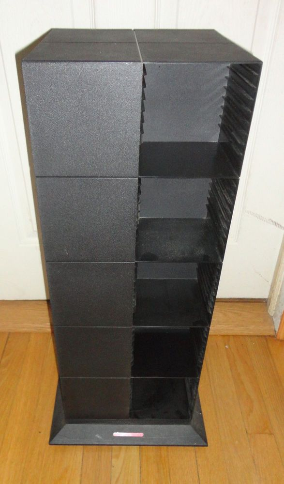 Laserline Black CD Storage Spinning Rack For Up To 200 CDs 28 Tall Media Find