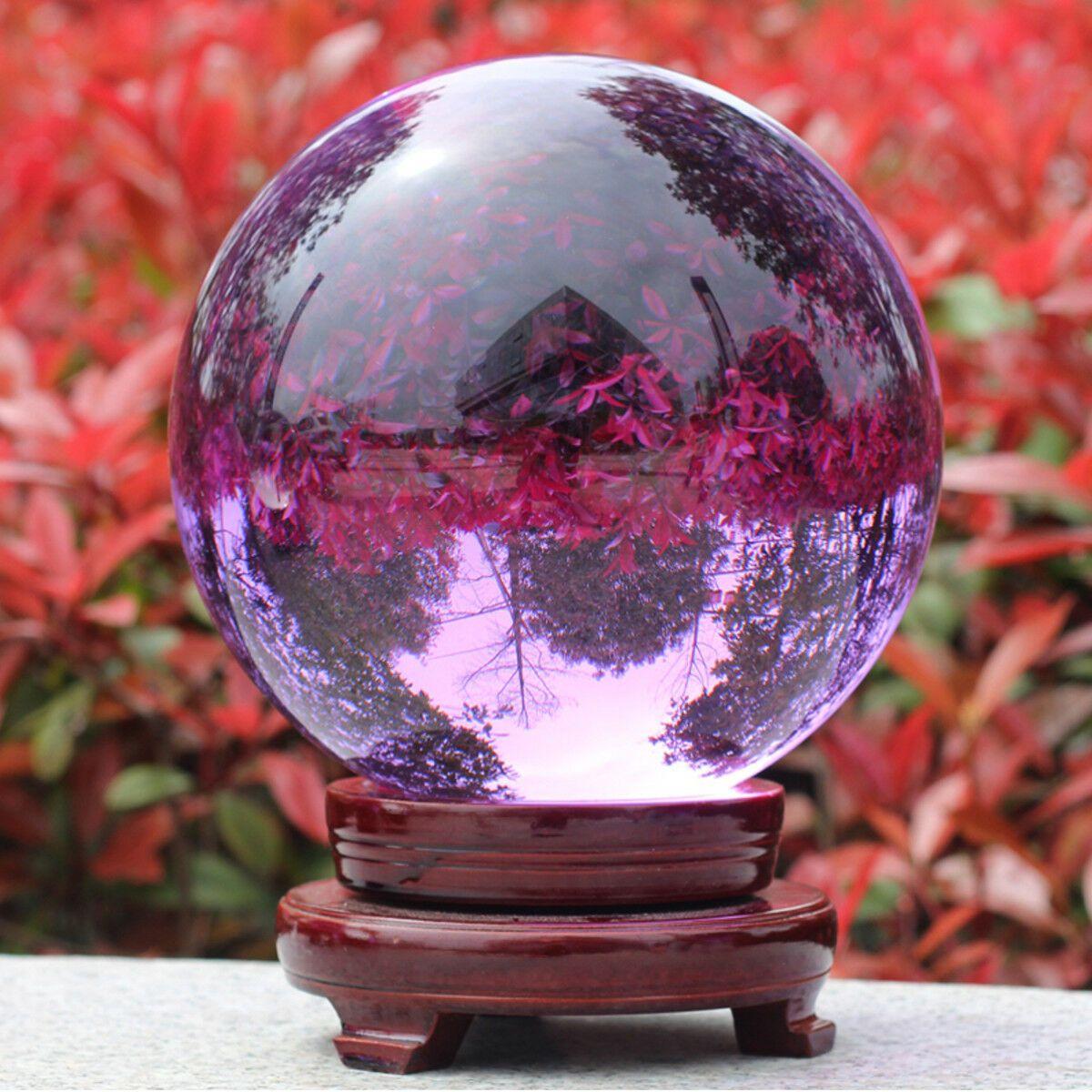 Stand Natural Amethyst Quartz Crystal Sphere Ball Healing Stone 30-60mm