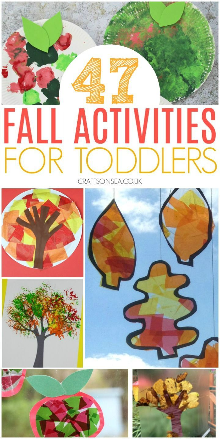 40+ Easy and Fun Autumn Activities for Toddlers #leafcrafts