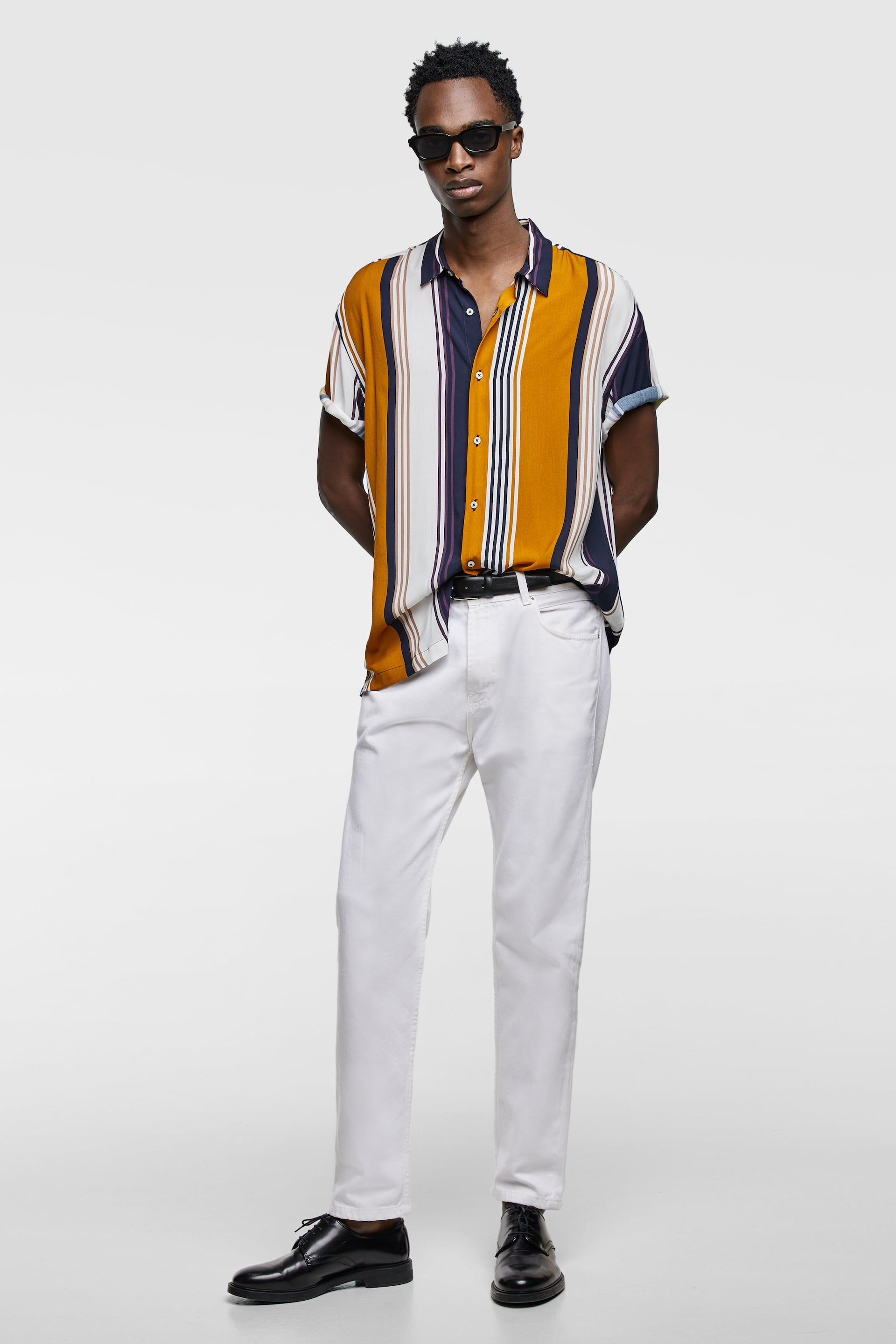 4b2e251e Image 1 of FLOWY STRIPED SHIRT from Zara | MILE12_Nate | Shirts ...