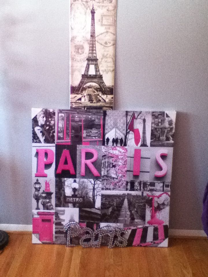 i want to decorate my room with Paris things in pink, white, and ...