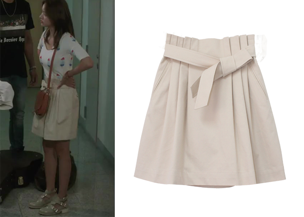 "Han Groo 한그루 in ""Marriage, Not Dating"" Episode 7.  Paul & Alice Tuck Detail Ribbon Skirt #Kdrama #MarriageNotDating #연애말고결혼 #HanGroo"