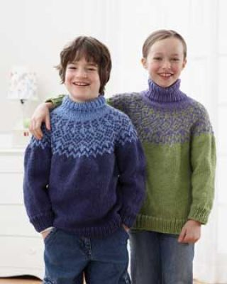 17e83a1493de Bernat® Softee Chunky  Knit Yoke  Sweater