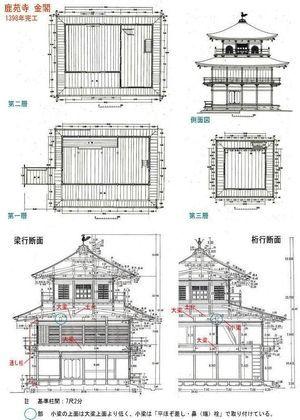 ワクワクする設計図集めませんか 鹿苑寺 金閣寺 建物