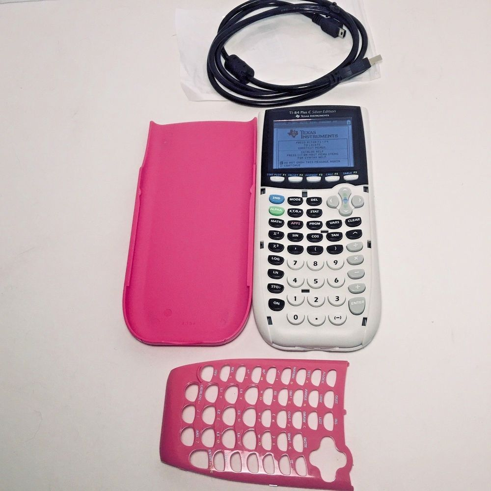 Pink Texas Instruments TI84 Plus C Silver Edition Color