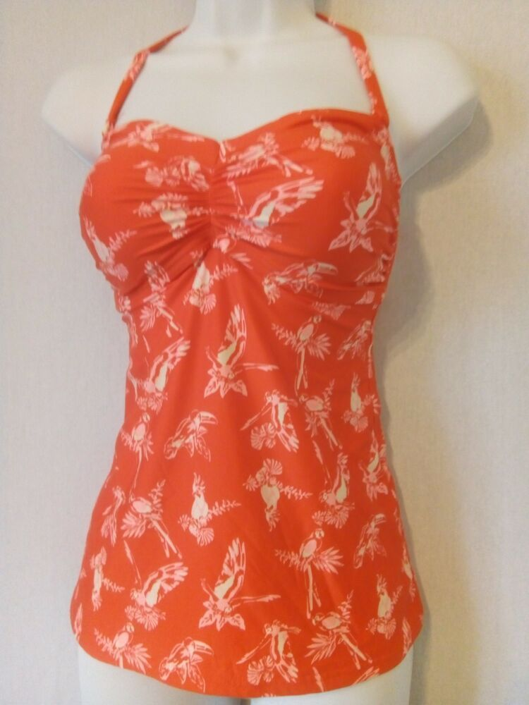 910f0cf47569d Ladies Orange Mix M S Halter   Strapless Tankini Top Size 14 - Padded  Parrot  fashion  clothing  shoes  accessories  womensclothing  swimwear (ebay  link)