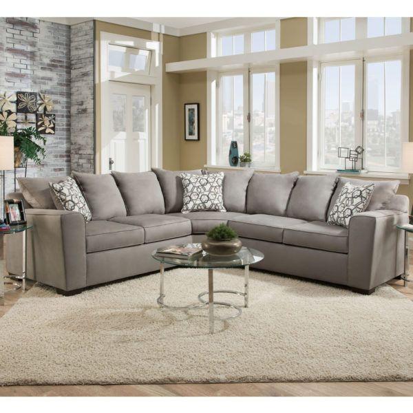 Simmons 9073 Sectional Sofa Venture Smoke Hope Home Furnishings And Flooring Sectional Sofa Fabric Sectional Sofas Sectional Sofa Couch
