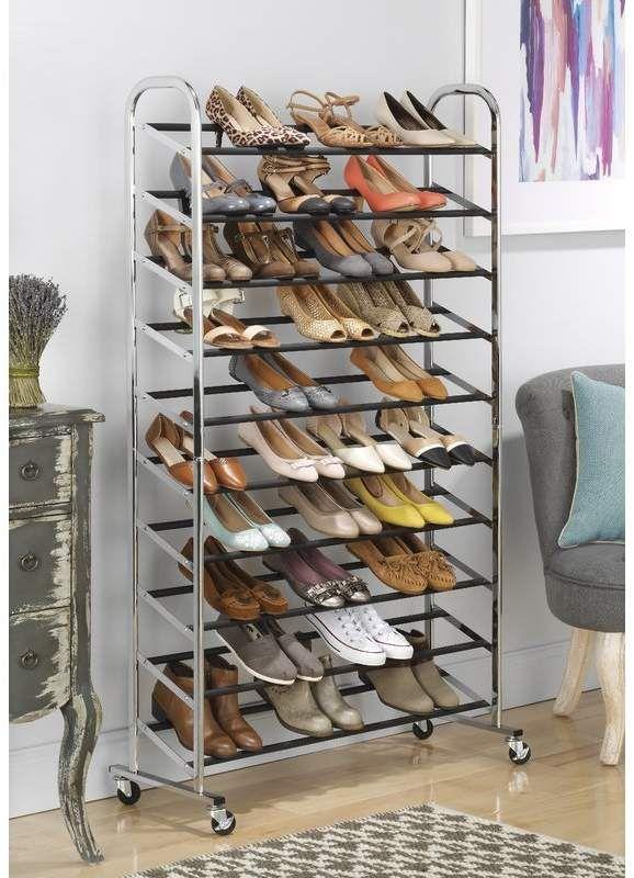 10 Tier 50 Pair Shoe Rack Closet Shoe Storage 50 Pair Shoe Rack