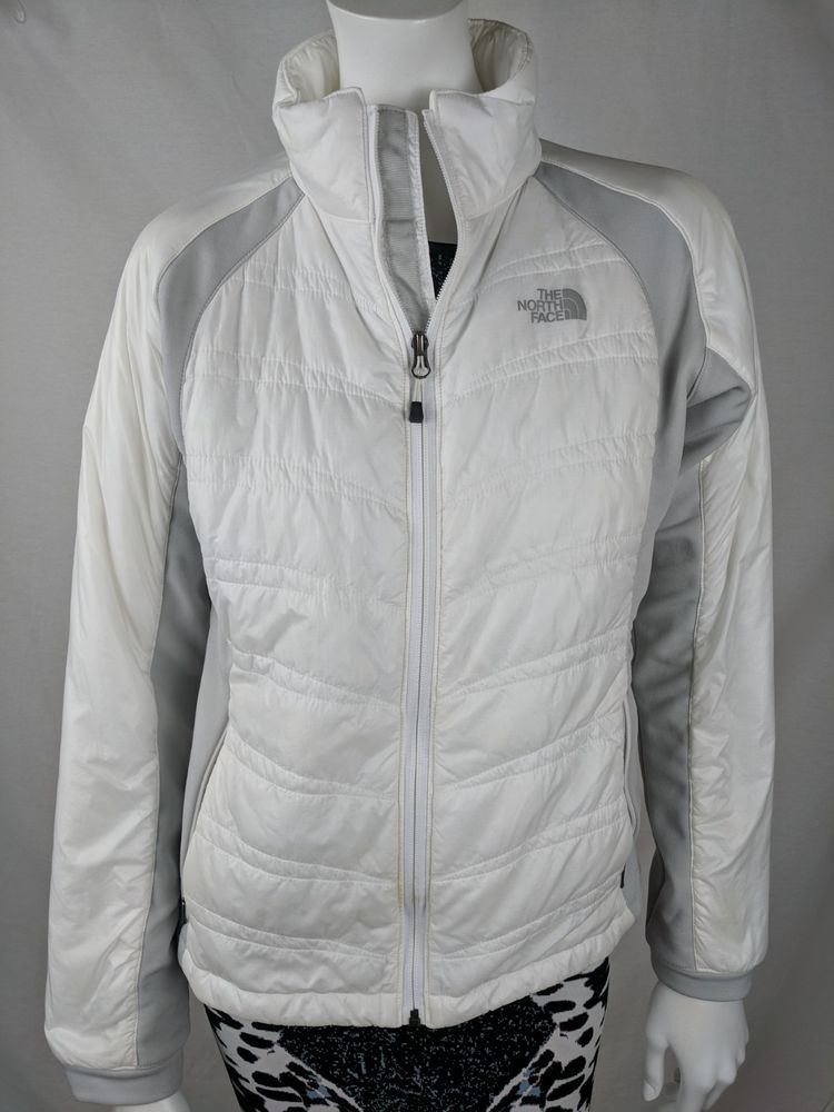 b9a5fcba66 NORTH FACE WOMENS PRIMALOFT White   Gray PUFFER Jacket Coat SZ S   P    12.00 (0 Bids) End Date  Friday Sep-7-2018 14 05 25 PDT Bid now