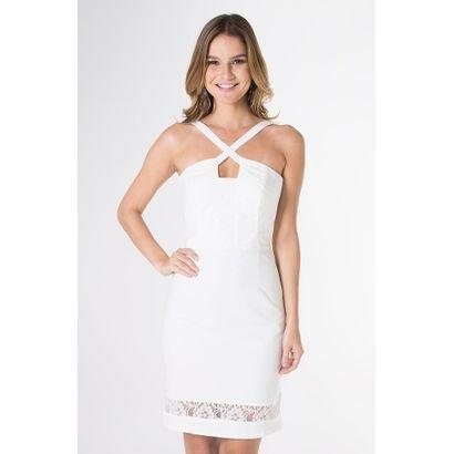 38d1c6252 Compre Vestido Tecido Liso Mercatto Off White na Zattini a nova loja de  moda online da