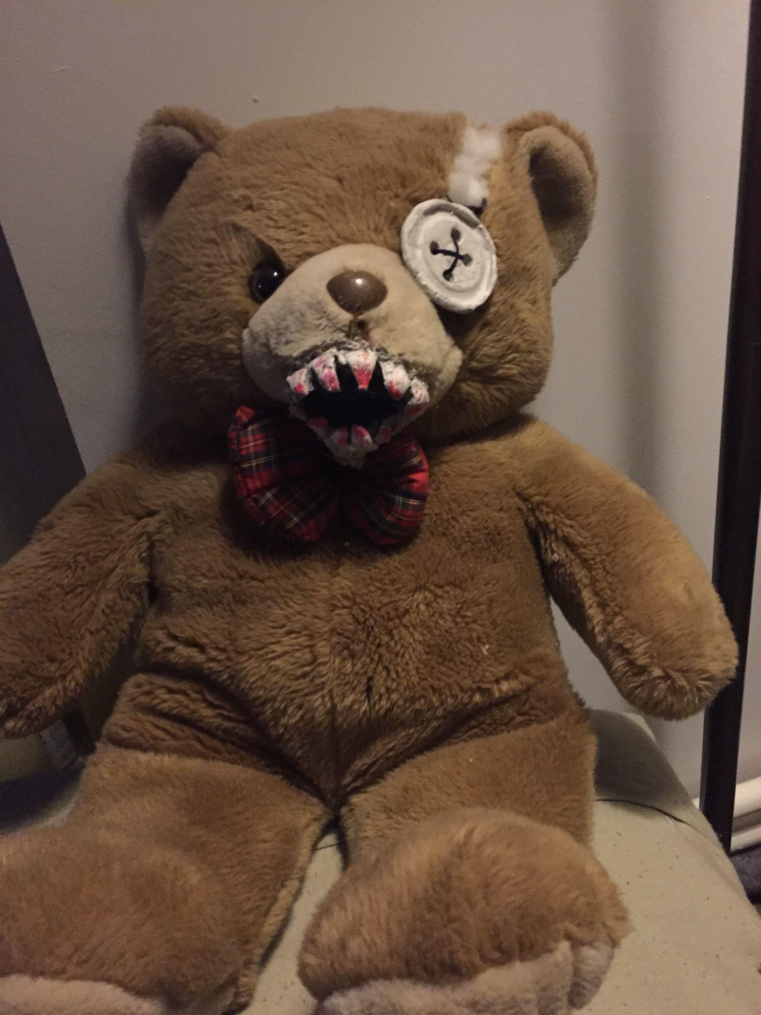 Enge beer, scary bear. DIY clay teeth, tanden van klei | Halloween ...