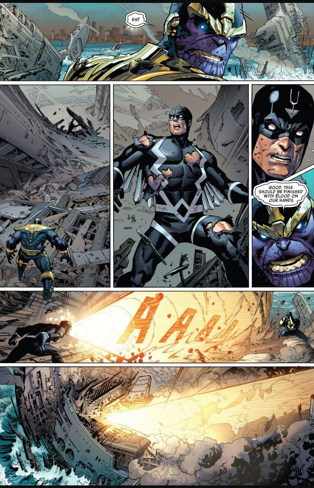 Black Bolt Vs Thanos Marvel Inhumans Marvel Comics Art Marvel Comics Superheroes