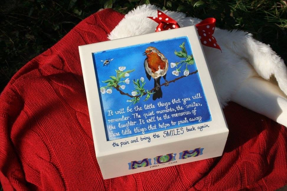 Bespoke memory box for a lost loved one memory box