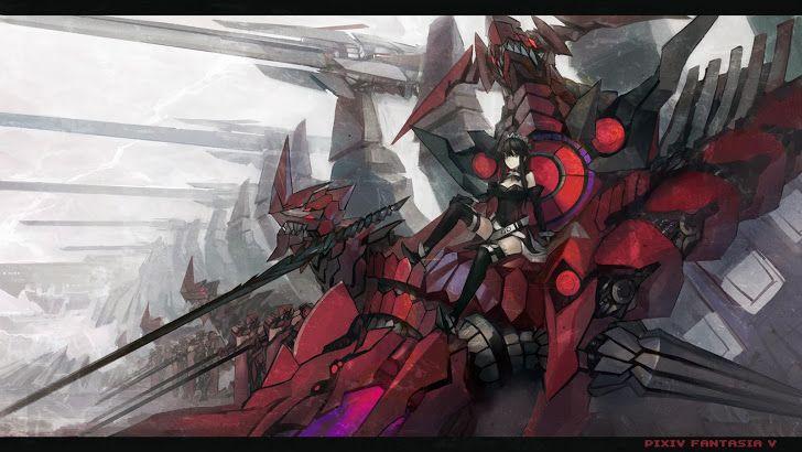 Mecha Dragon Girl Pixiv Fantasia A784 Hd Wallpaper Anime Wallpaper Mecha Anime Mecha