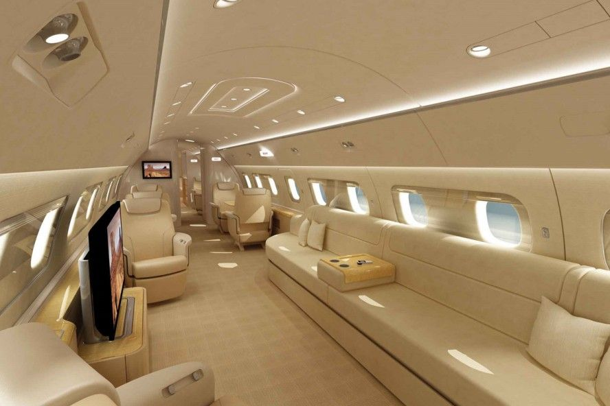 Elegant Private Jet Interior Design Is Designed Using The Amazing Idea Modern Luxury Private Jet Interio Private Jet Interior Luxury Private Jets Private Jet