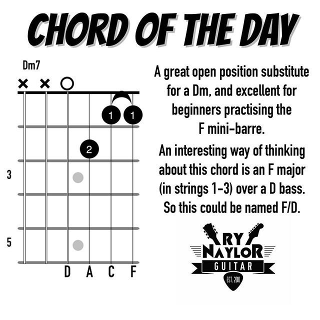 Chord Library: Dm7 | Guitar Space | Pinterest | Guitars, Guitar ...