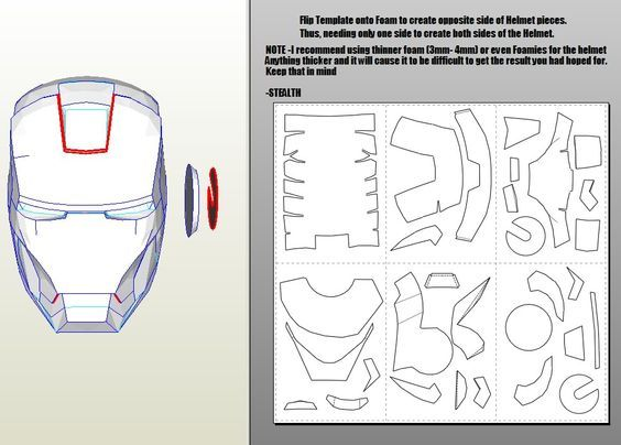 Iron man mark 46 pepakura foam templates video tutorial link in how to make iron man helmet armor and chest piece complete guide for noobs pronofoot35fo Gallery