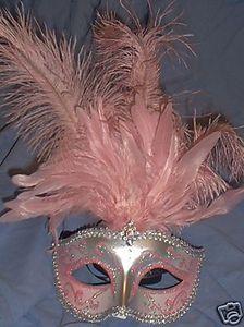 Pink silver Venetian mask