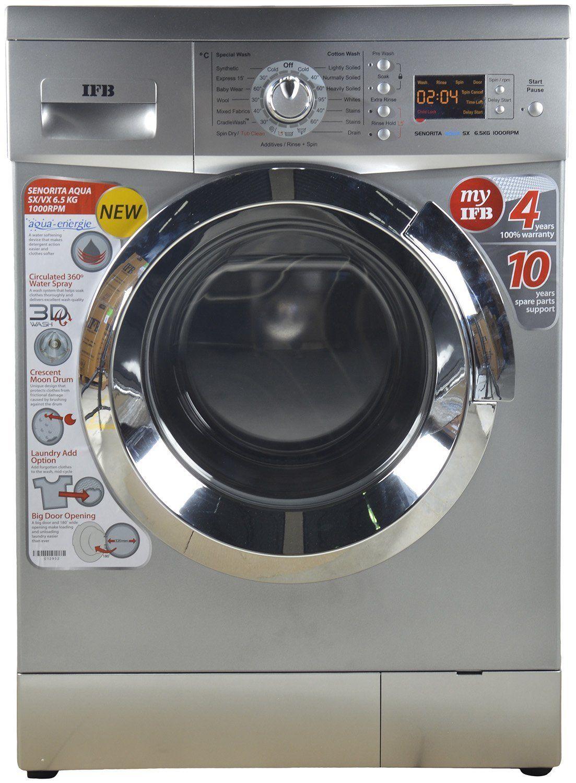 Ifb Senorita Aqua Sx Front Loading Washing Machine 6 5 Kg Silver Best Home And Kitchen