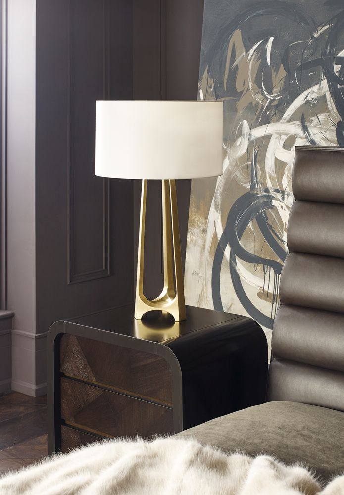 The new Jean Louis Deniot collection for Baker Furniture  Modern French  Interior Design  Bedside table lamp for luxury homes with a boutique hotel  feel. The new Jean Louis Deniot collection for Baker Furniture    The