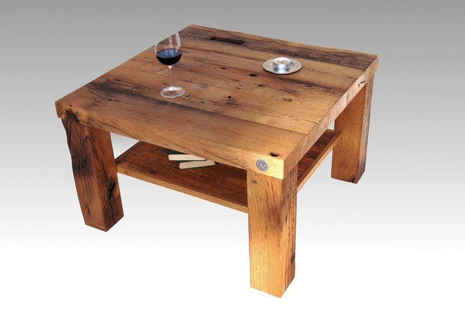Massiver Altholz Couchtisch Mit Ablage Auf Mass Tables 2