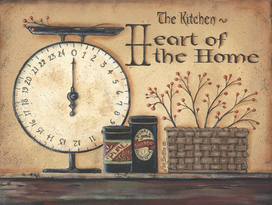 primitive signs sayings | Heart Of A Home - Primitive Country Framed ...