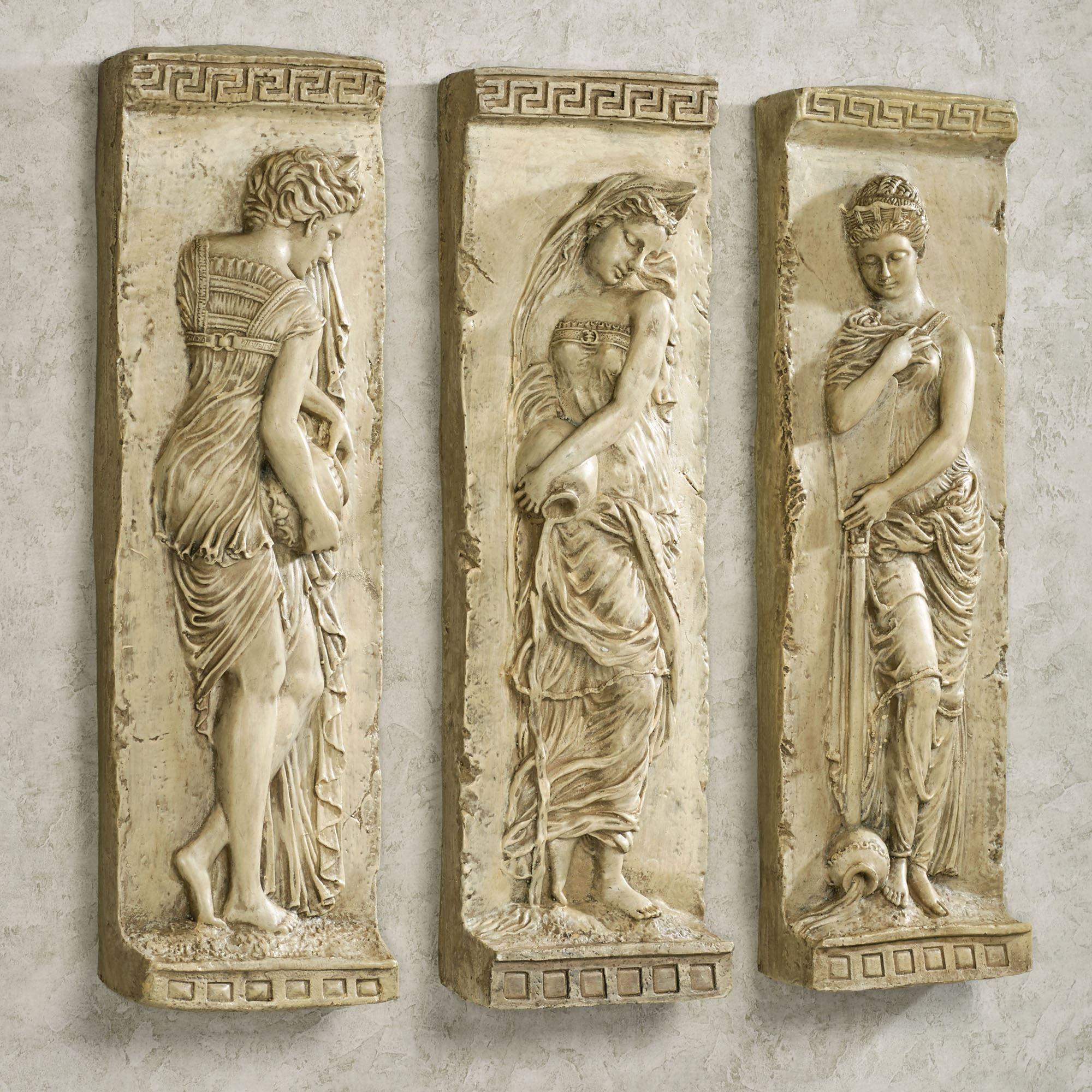 Greek Roman Muse Dancing Wall Plaque Hme Decor