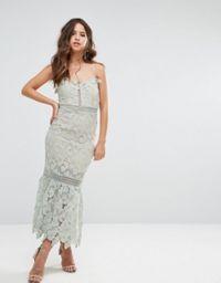 Love Triangle | Love Triangle Halter Neck Lace Mini Dress