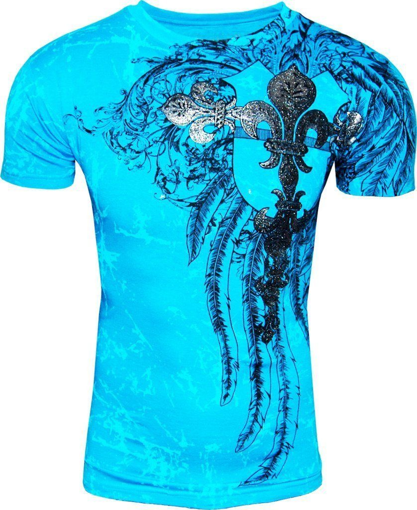 8c75a232 T-shirt Konflict NWT Men's Giant Tribal Cross Graphic Designer MMA Muscle