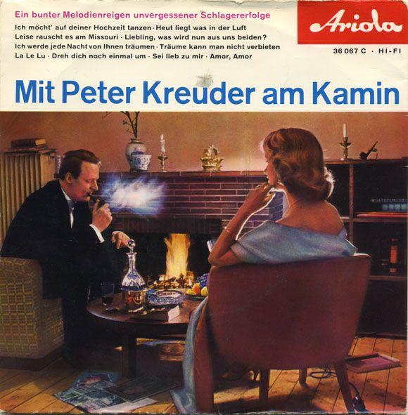 Mit Peter Kreuder am Kamin - old single cover