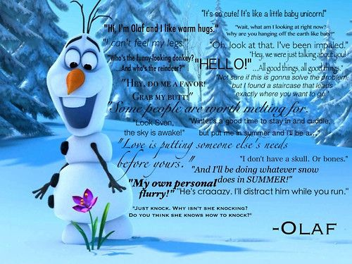 The funniest quotes of olaf 😂💎💕 | Olaf quotes, Disney ...