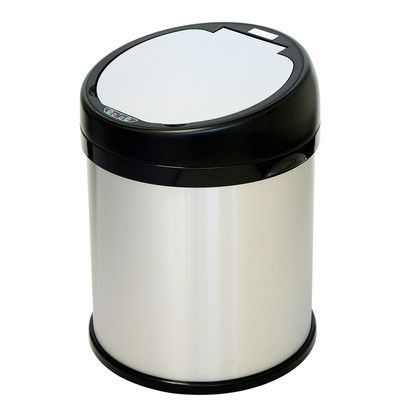 itouchless Touchless 8 Gallon Motion Sensor Metal Trash Can