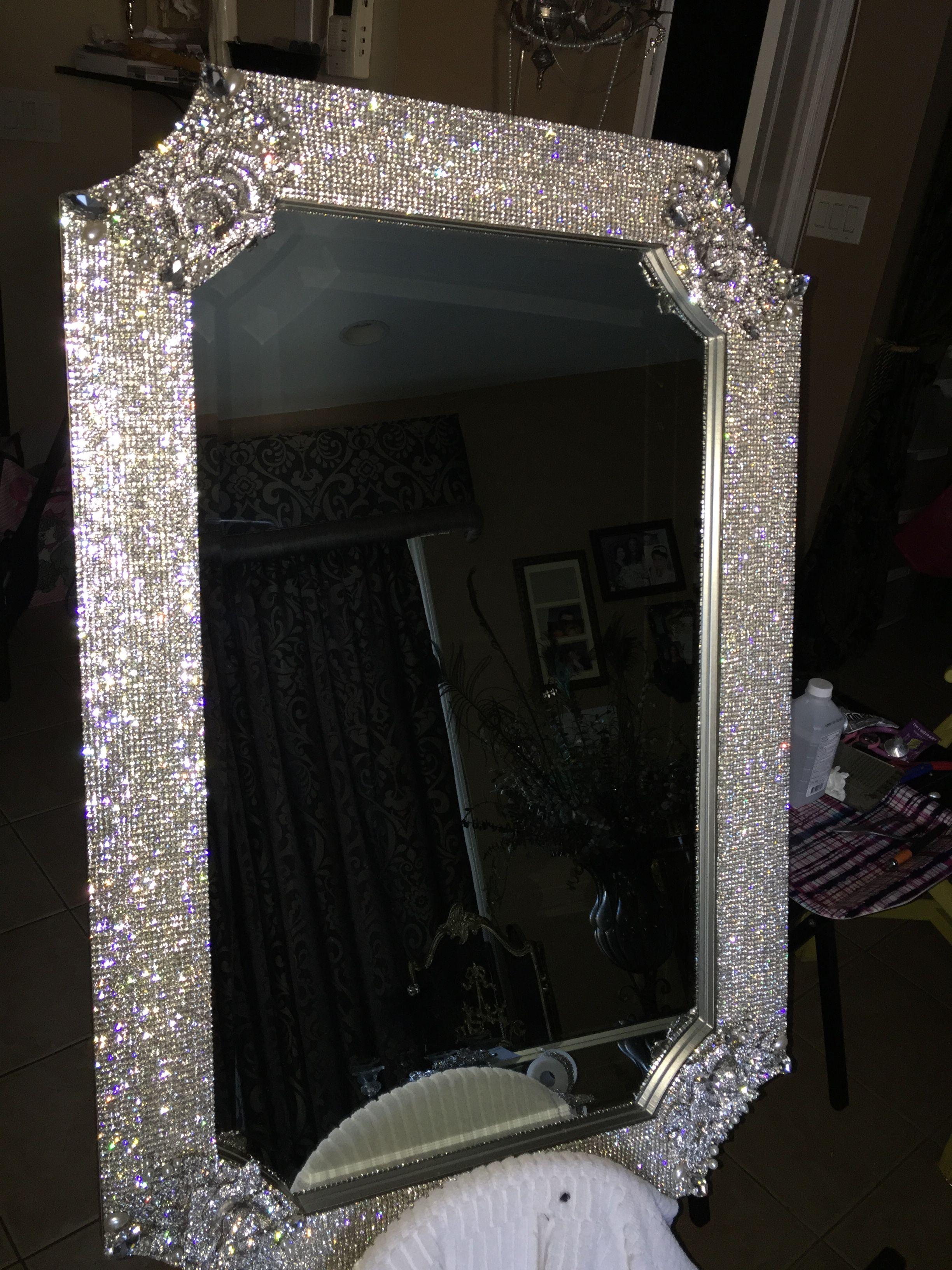 Rhinestone Mirror Rhinestone Mirror Decor Home Diy