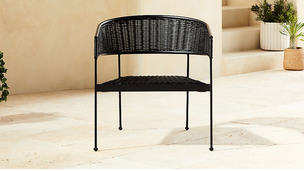Boomerang lounge rattan tub chair black reviews cb2