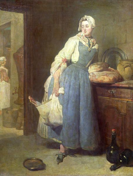 The Kitchen Maid With Provisions 1739 18th Century Paintings