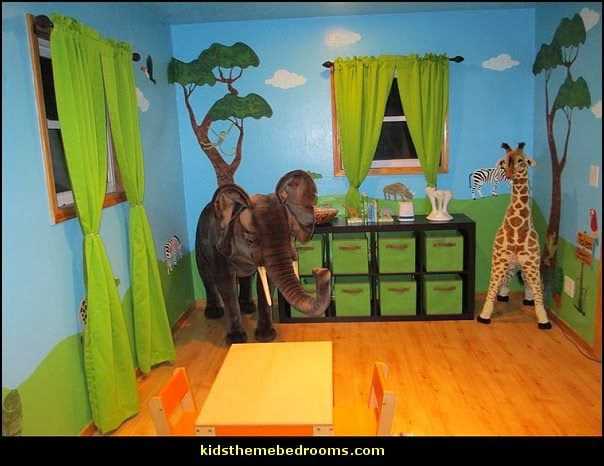 Jungle Wall Stencils For Theme Mural Nursery Decor