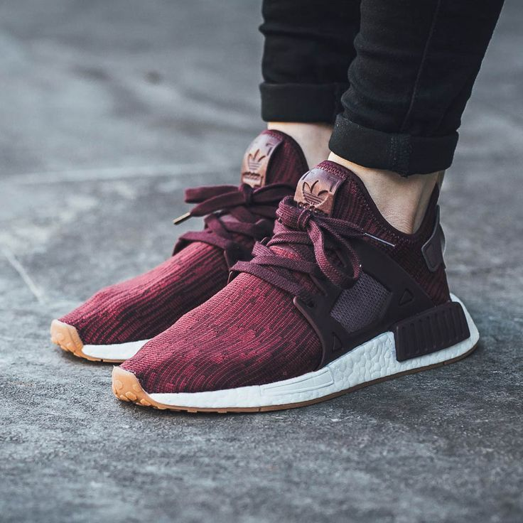 The women's adidas NMD is rendered in maroon for its latest iteration this  season. Find it at select adidas stores overseas first.