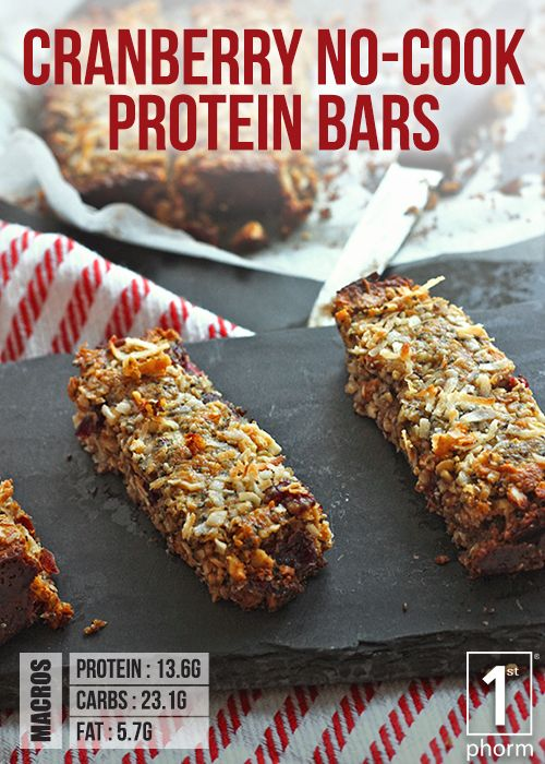 1st Phorm Cranberry No Cook Protein Bar Recipe 1st Phorm Protein Snacks Recipes Protein Bar Recipes Recipes