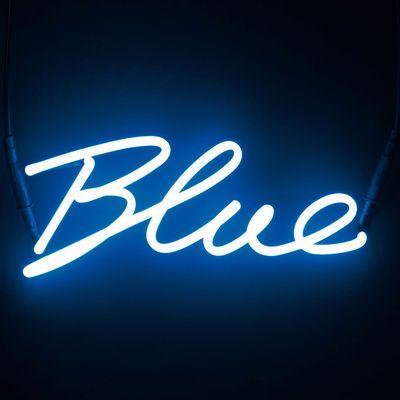 seletti neon shades blue wall light