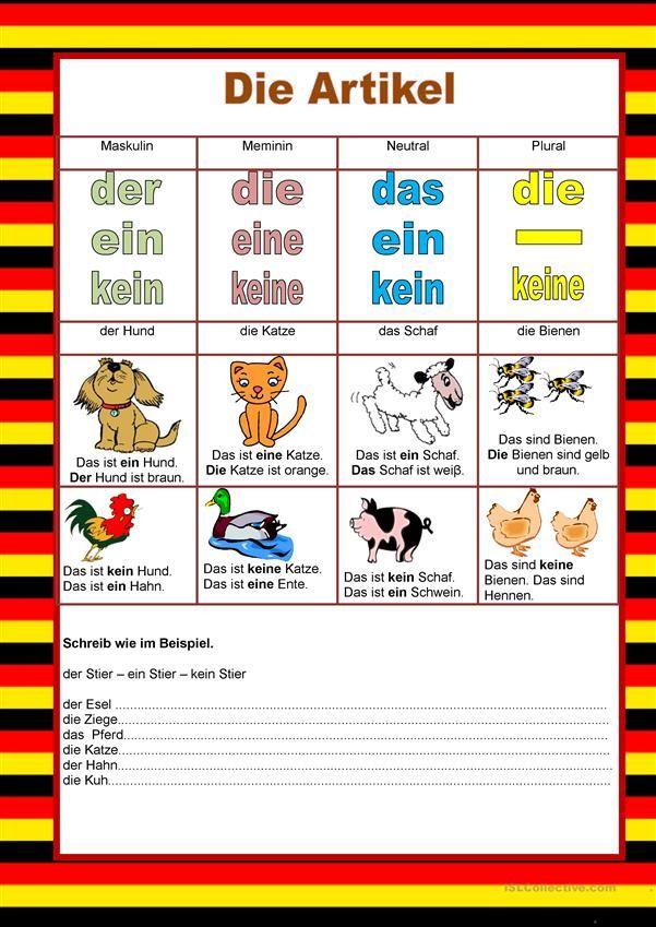Willkommen auf Deutsch - Artikel - Tiere   Deutsch für Kinder ...